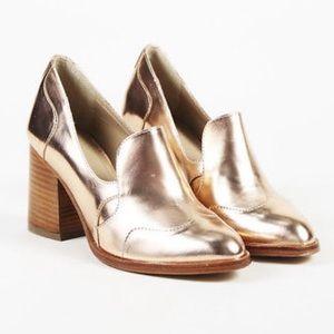 Office of Angela Scott Metallic Rose Gold Heel